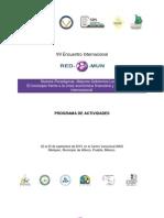 "Programa de Trabajo del ""VII Encuentro Internacional Red E Mun Atlixco 2010"""