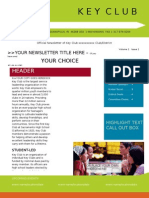 Key Club Newsletter Template