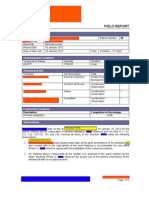 Example of NBL Field Report