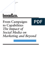 From Campaigns to Capabilities - The Impact of Social Media on Marketing and Beyond