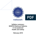 NDip Feb 2010 Syllabus summary 22101022112010241119
