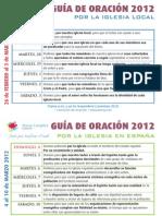 Guía Oración Marzo 2012
