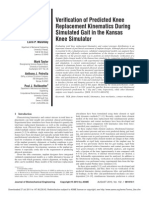 Verification of Predicted Knee Replacement Kinematics During Simulated Gait in the Kansas Knee Simulator[1]