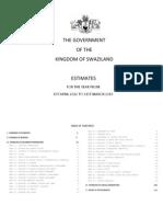 Swaziland Budget 2012