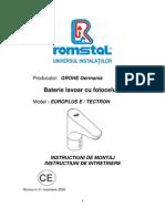 Baterie Fotocelula Montaj,Intretinere