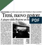"""Treni, nuovo gestore. A giugno dalla Regione un bando europeo (""""La Provincia"""", 29-02-2012, p. 36)"""