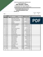 Daftar Kelas 7