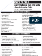 Registered Finance Companies at Cbsl