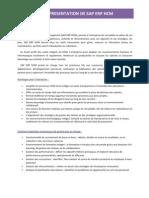 Présentation de SAP ERP HCM