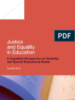 Justice and Equality in Education a Capability Perspective on Disability and Special Educational Needs