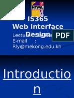 Web Interface & Design
