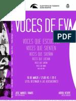 Cartel Voces de Eva