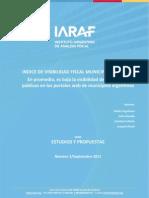 Informe Municipio Transparente IARAF