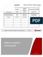 Owa320010 Hspa & Hspa+ Introduction Issue 1.00