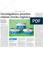 Negocio de Trucha Orgánica de Puno, Peru para el mundo