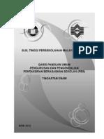 Panduan Umum Pengurusan dan Pengendalian PBS STPM Baharu