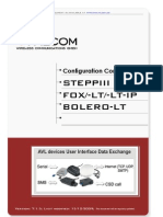 SteppIII Fox Bolero Lt PFAL Configuration Command Set 2.6