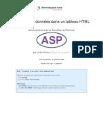 Jreaux ASP Affichage Donnees Tableau HTML