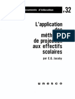 Methodes de Projection Des Effectifs Scolaires