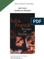 Julia Franck  - Rücken an Rücken