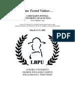 University of Scouting 2005 LBPU Catalog Rev 1