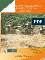 Evaluación del impacto socioeconómico de la temporada de lluvias 2010 en la Región Cusco