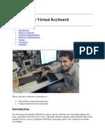 Final Report on Virtual Keyboard.