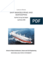 Lecture Notes of Ship Manoeuvring and Sea Keeping 20060615 _New(by Candle Wind)