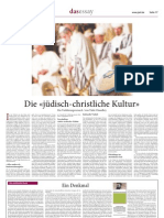 """""""Die jüdisch-christliche Kultur - Ein Verklärungsversuch"""" (Jüdische Zeitung)"""