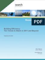 Building Efficiency - Ten Trends in 2011 and Beyond