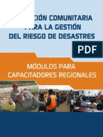 Educación Comunitaria para la Gestión del Riesgo de Desastres