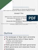 Corporate Governance of Banks in Asia - Joseph Fan