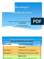 Kent - Programa Metodologia I - Primavera 2012