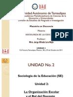 """""""Sociologia de la Educacion"""" Unidad 2"""
