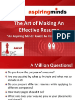 The Art of Making an Effective Resume