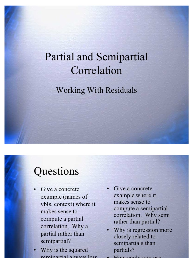 19 Partial and Semi | Regression Analysis | Correlation And