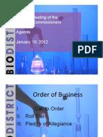 Bio District BOC Presentation 1.19.12