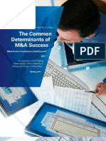 The Common Determinants of Merger and Acquisition Success