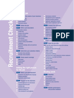 Recruitment Checklist
