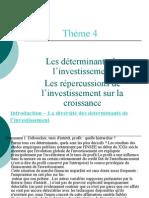 diaporama thème 4 2008-2009 déterminnats de l'investissement