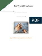 Diabetes Type2 Symptoms