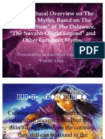 Cross Cultural Overview on the Creation Myths,