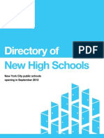 Directory of New High Schools