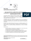 Declaration de l'ASADHO sur la participation de l'Opposition aux institutions politiques en RDC