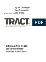 SaaS University Presentation From TRACT on Activity Based Billing for SaaS, ISVs and MSPs from Transverse, makers of www.tractbilling.com