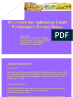 Multimedia & Aplikasinya Dalam Pembelajaran Bahasa Melayu
