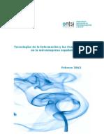 Tecnologías de la Información y las Comunicaciones en la microempresa española (ONTSI) -Feb12