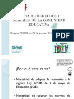Carta de Derechos y deberes de la comunidad educativa 2011