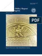 2-29-2012 Monetary Policy Report to the Congress -Bernanke