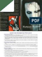 Manson, Marilyn - Mémoires de L'Enfer Autobiographie